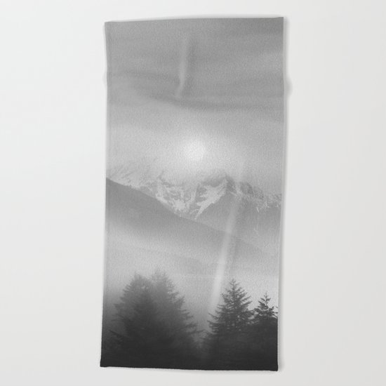 Pastel vibes 11 Black and White Beach Towel