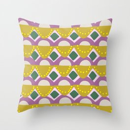 Tribal Banners Pattern in Chartreuse Throw Pillow