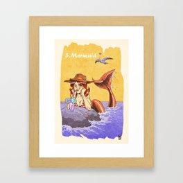 05 - Mermaid Framed Art Print