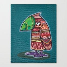 Doodlebird Orangey Canvas Print
