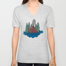 Walden - Henry David Thoreau (Coloured textured version) #society6 #decor #buyart Unisex V-Neck