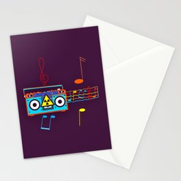 Radio Active musical waves Stationery Cards