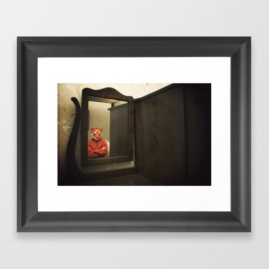 He Waits Silently  Framed Art Print