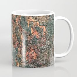 Rusty Red Orange Dark Green Rock Natural Formation Texture Coffee Mug