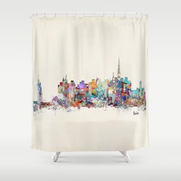 Dubai skyline Shower Curtain