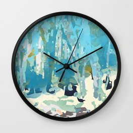 abstract forest in pastels Wall Clock