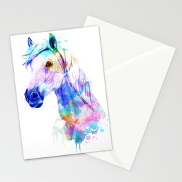 Horse Watercolor, Horse Print, Watercolor Print, Watercolor Animal, Horse Painting, Horse Gift Print Stationery Cards
