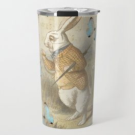 White Rabbit - Alice In Wonderland Travel Mug