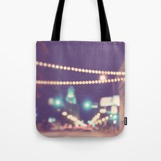 Sparkle No.2. downtown Los Angeles at night photograph Tote Bag