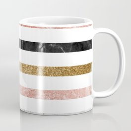 marble and metal stripes Coffee Mug