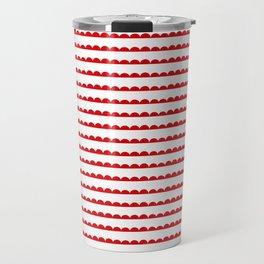 Red Scallop Travel Mug
