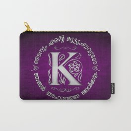Joshua 24:15 - (Silver on Magenta) Monogram K Carry-All Pouch