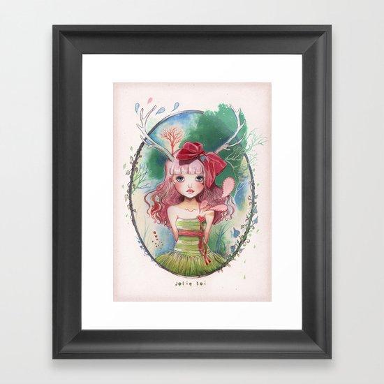 Jolie toi Framed Art Print