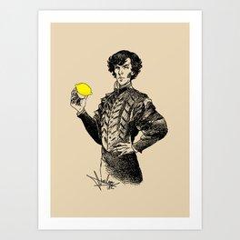Sherlock - Not Sure if the Lemon is in Play?! Art Print