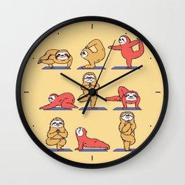 Sloth Yoga Wall Clock