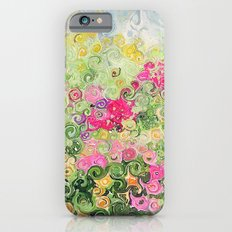 Dreamy Confetti Flower Basket Bouquet -- Whimsical Painterly Abstract iPhone 6s Slim Case