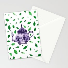 Fresh Green Tea Stationery Cards