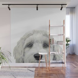 Labradoodle white by miart Wall Mural