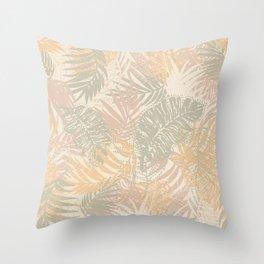Tropical Batik Throw Pillow