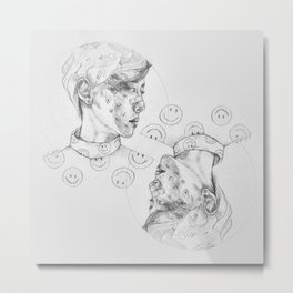 INNER CHILD OF HAPPINESS + POSITIVITY Metal Print