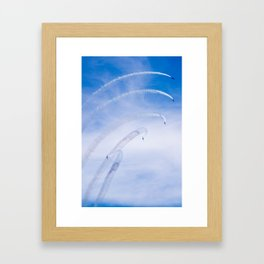 Bank to the Right Framed Art Print