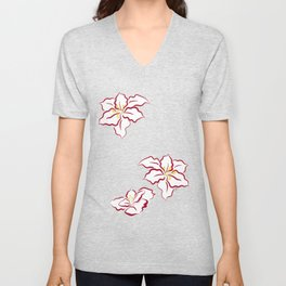 Poinsettia - white Unisex V-Neck