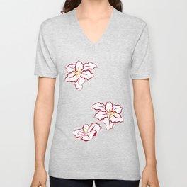 Poinsettia - white Unisex V-Neck