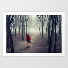 Away from light Art Print