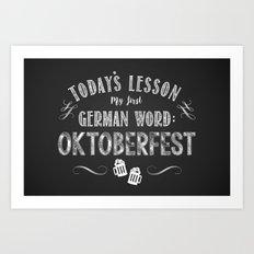 Oktoberfest (Beer / Bier) Art Print