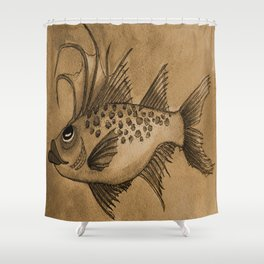 Great Expectations SEPIA Shower Curtain