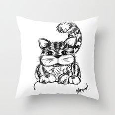 Unlikely Friends :: Cat & Mouse Throw Pillow