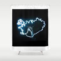 iceland Shower Curtains featuring Iceland by Rik&Rut