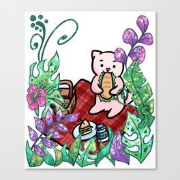 Cat picnic jungle Canvas Print