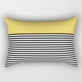 STRIPE COLORBLOCK {LEMON} Rectangular Pillow