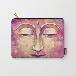 Trippy Buddha Face Painting in pink and orange for girls Carry-All Pouch