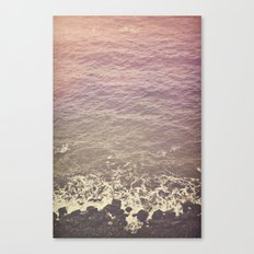 Rocky Beach Retro Canvas Print