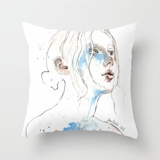 Winter 2016, watercolor Throw Pillow