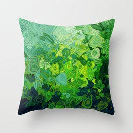 Composition #82 (shades of green) Throw Pillow