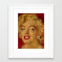 monroe Framed Art Prints featuring Monroe by Ancello