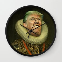Trump painting face-swap Wall Clock