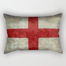 Flag of England (St. George's Cross) Vintage retro style Rectangular Pillow