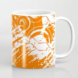Abstract Orange Grungy Background  Coffee Mug