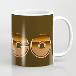 Metallic Seventies Disco Emblem Coffee Mug