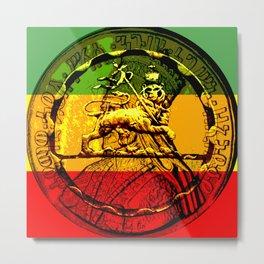 Lion of Judah Haile Selassie King of Kings Metal Print