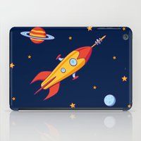 spaceship iPad Cases featuring Spaceship! by Doodle Dojo
