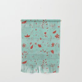 Flowers red Wall Hanging