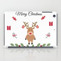 merry christmas iPad Cases featuring Merry Christmas by haroulita
