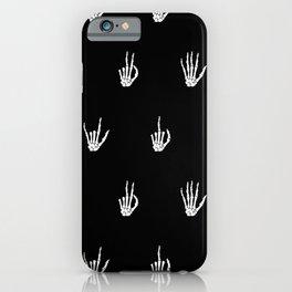 Skeleton Hands iPhone Case