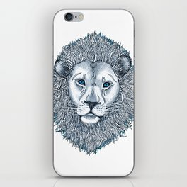 Blue Eyed Lion iPhone Skin