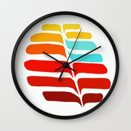 Whispering Leaves II Wall Clock
